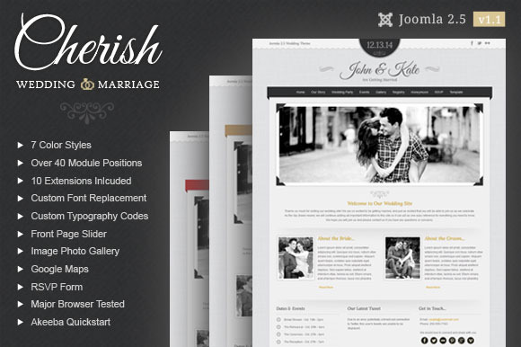 Cherish Wedding Joomla Theme