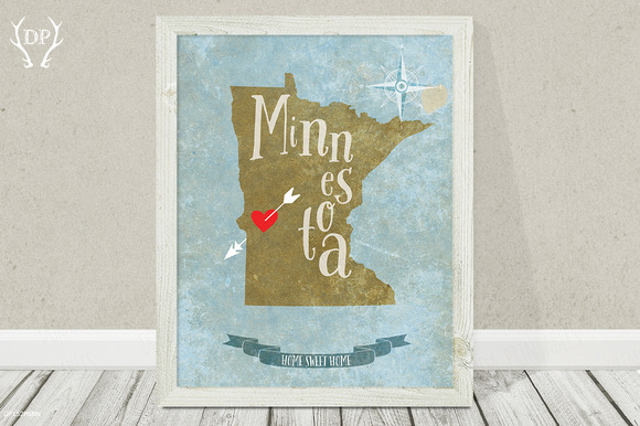Minnesota State Wall Art Printable