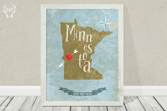 Minnesota State Wall Art Printable