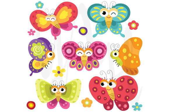 Cute And Colorful Butterflies