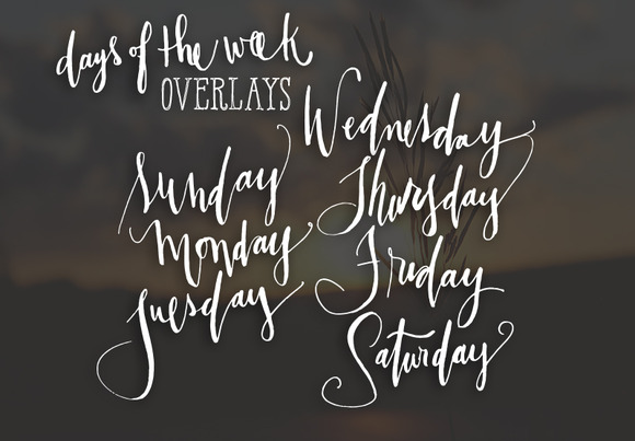 Days Of The Week Overlays