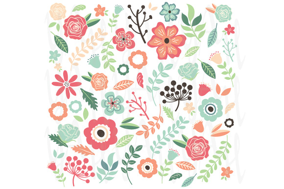 Hand Drawn Vintage Flowers