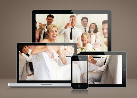 Photo Collage In Screen Mockup