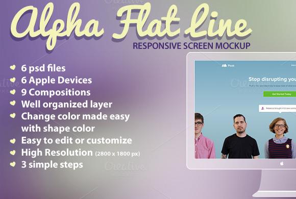 Responsive Mockup Alpha Flat Line