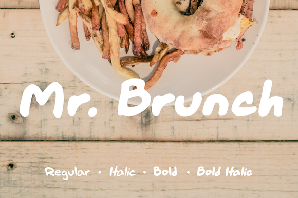 Mr Brunch Handmade Typeface