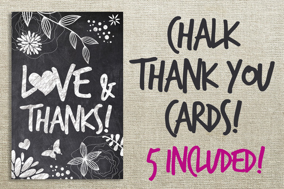 Chalk Thank You Cards Bundle
