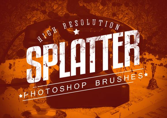 7 Splatter Photoshop Brushes