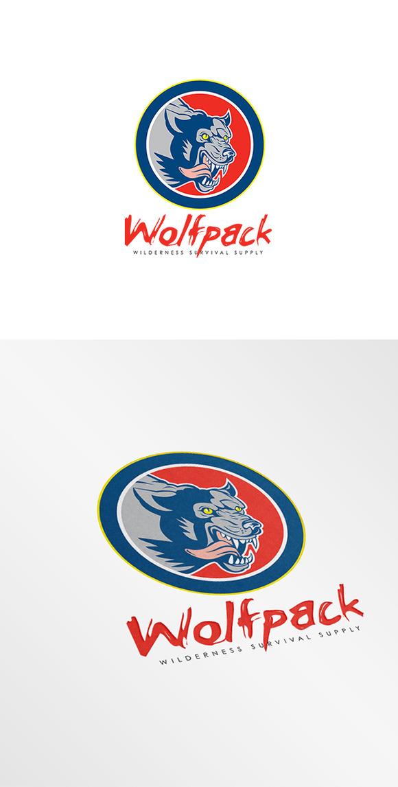 Wolfpack Wilderness Survival Logo