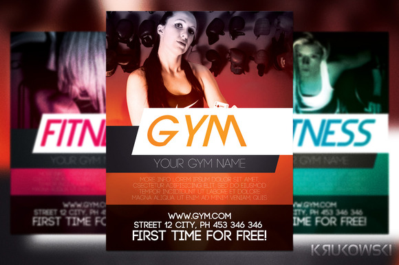 Gym Training Flyer Template