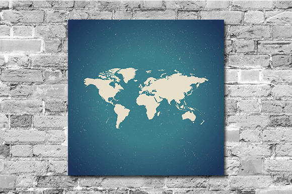 World Map Digital Poster