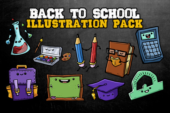 Back To School Ilustration Pack