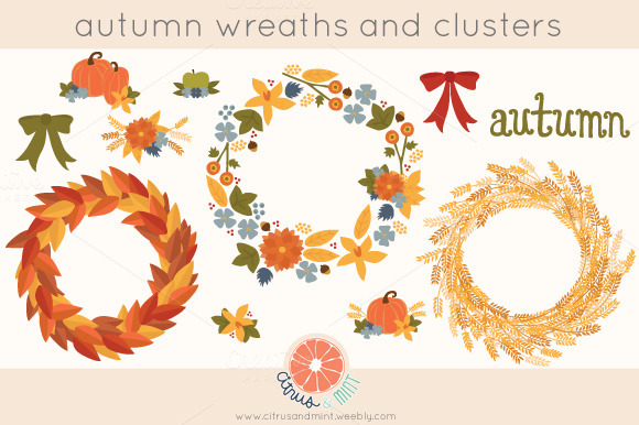 Autumn Wreaths And Clusters