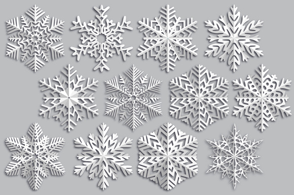 Snowflake Made Of Paper