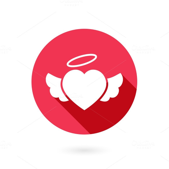 Red Winged Heart Icon
