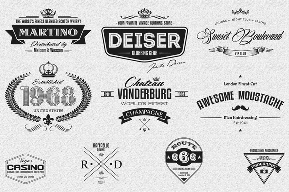10 Retro Logo Badges And Labels