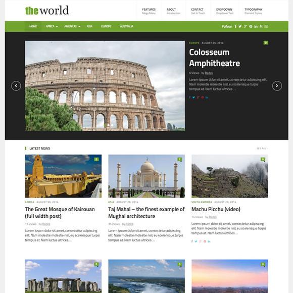 TheWorld Fresh Magazine Theme
