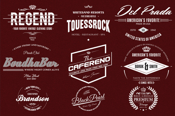 9 Retro Logo Badges And Labels