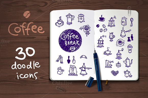 Coffee Sketch Doodle Icons