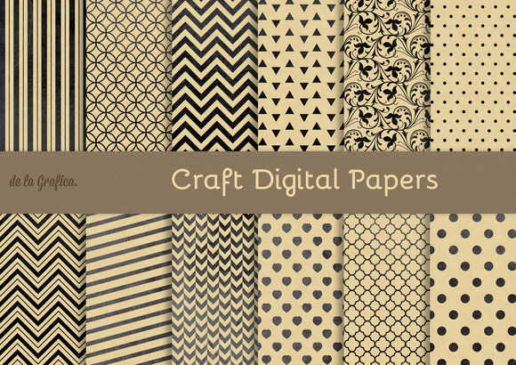 Craft Digital Papers