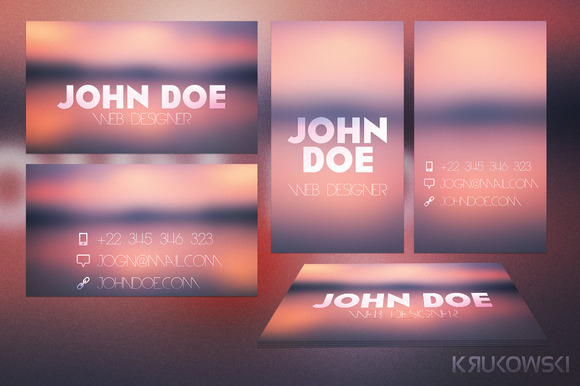 Blur Business Card Template