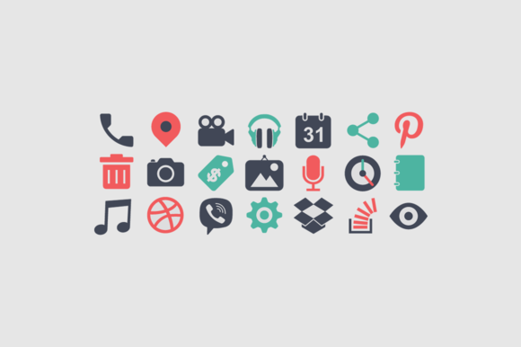 Most Used Icons And Buttons