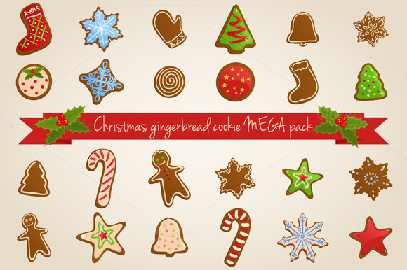 Vector Christmas Cookies MEGA Pack