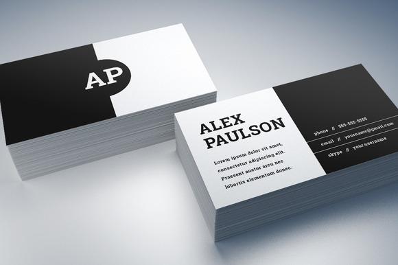 Black White Business Card Design 008