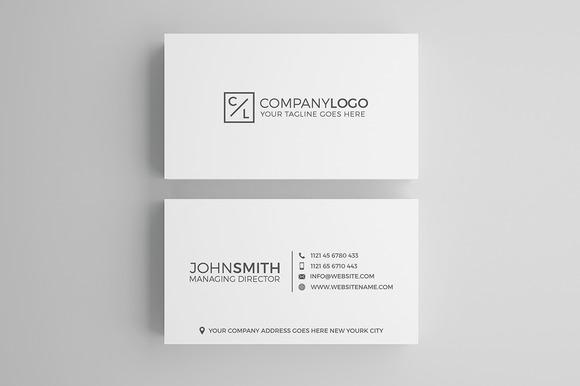 Minimal Modern Business Card Design