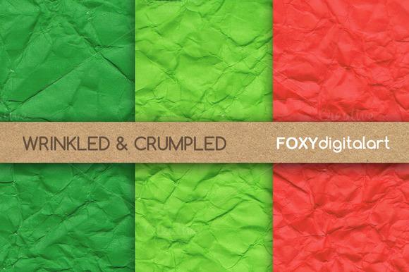 Wrinkled Digital Paper Backgrounds