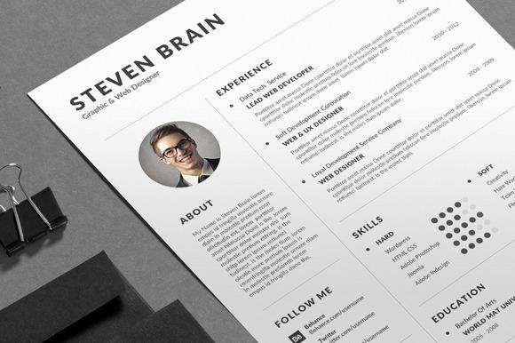 Clean Resume CV Business Card