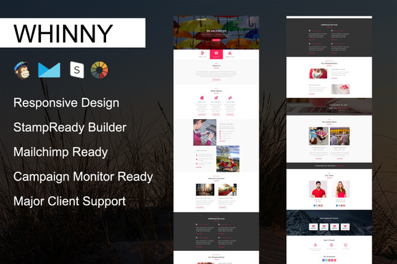 WHINNY Responsive Email Template