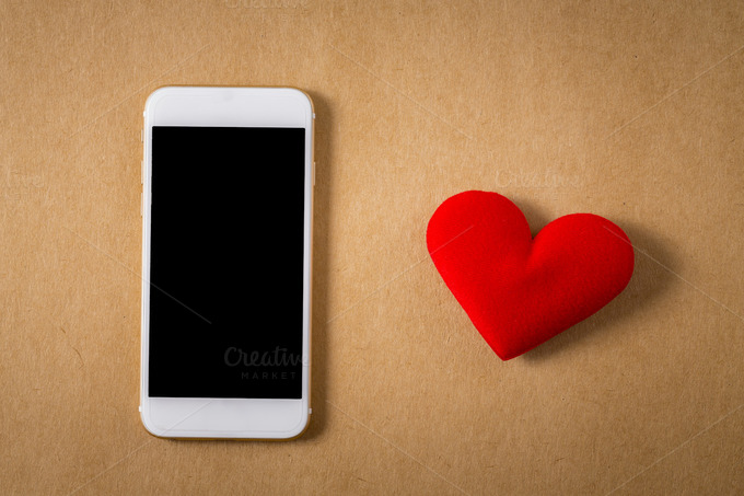 Valentine Red Heart And Smartphone
