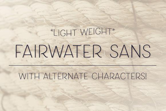 Fairwater Sans Light