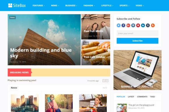 SiteBox WordPress Theme