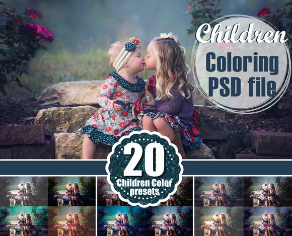 20 Photoshop Coloring Color File Psd