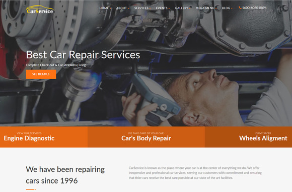 CarService Car Repair Template