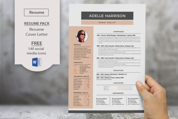 Modern Word Docx Resume Cover Letter