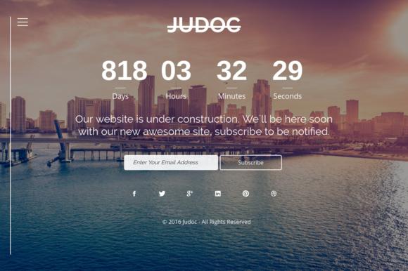 Judoc HTML 5 Responsive Template
