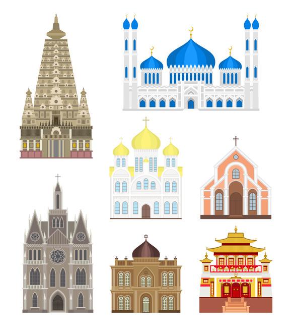 Famous Buildings Vector Architecture