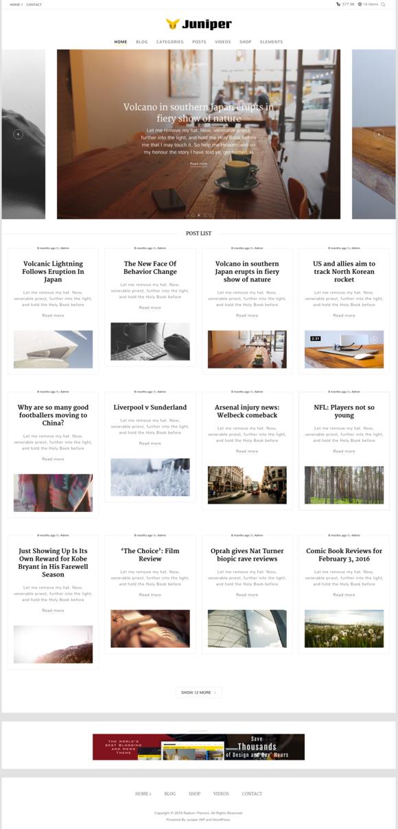 Juniper Personal Wordpress Theme
