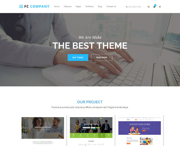 FC Company Bootstrap Template