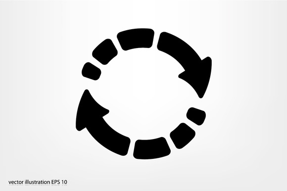 arrow circle circular cycle diagram motion recycling