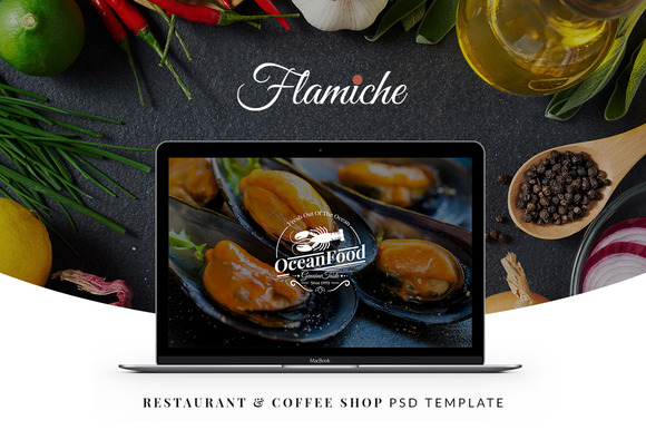 Flamiche Restaurant PSD Template