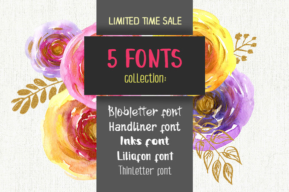 Sale 5 Fonts For 5$