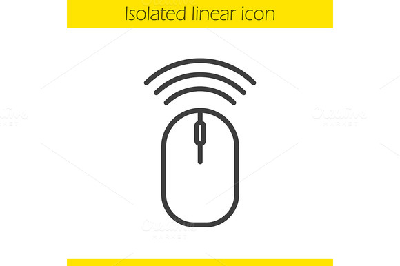 Wireless Computer Mouse Icon Vector