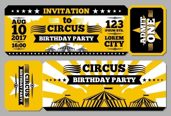 Circus Ticket Birthday Card