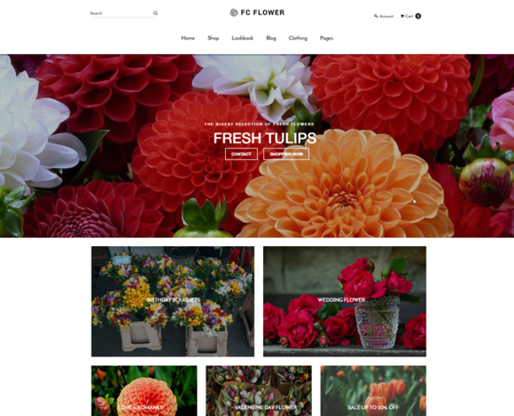 FC FLOWER Shop Template