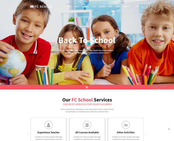 FC SCHOOL Education Template