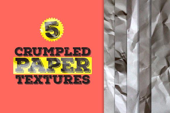 5 Crumpled Paper Textures