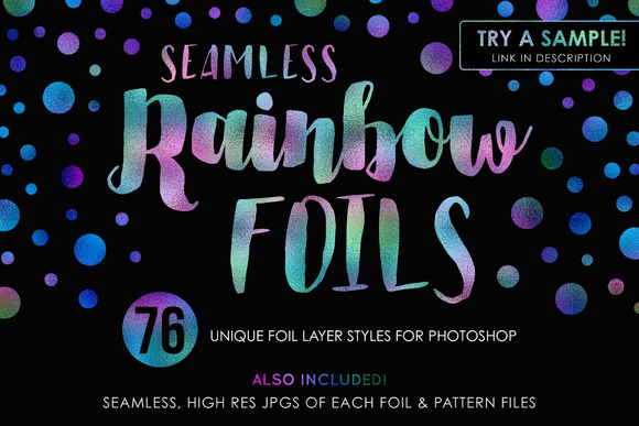 76 Rainbow Foils 25% Off